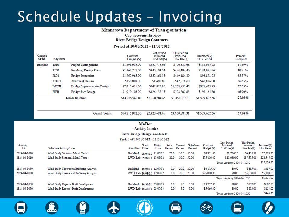 Schedule Updates – Invoicing
