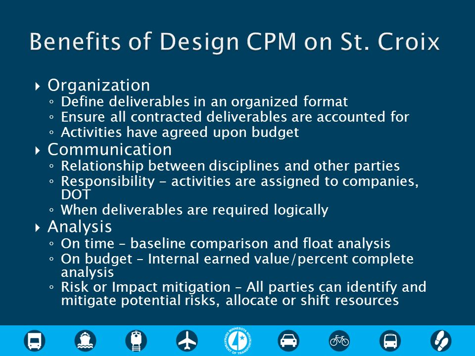 Benefits of Design CPM on St. Croix
