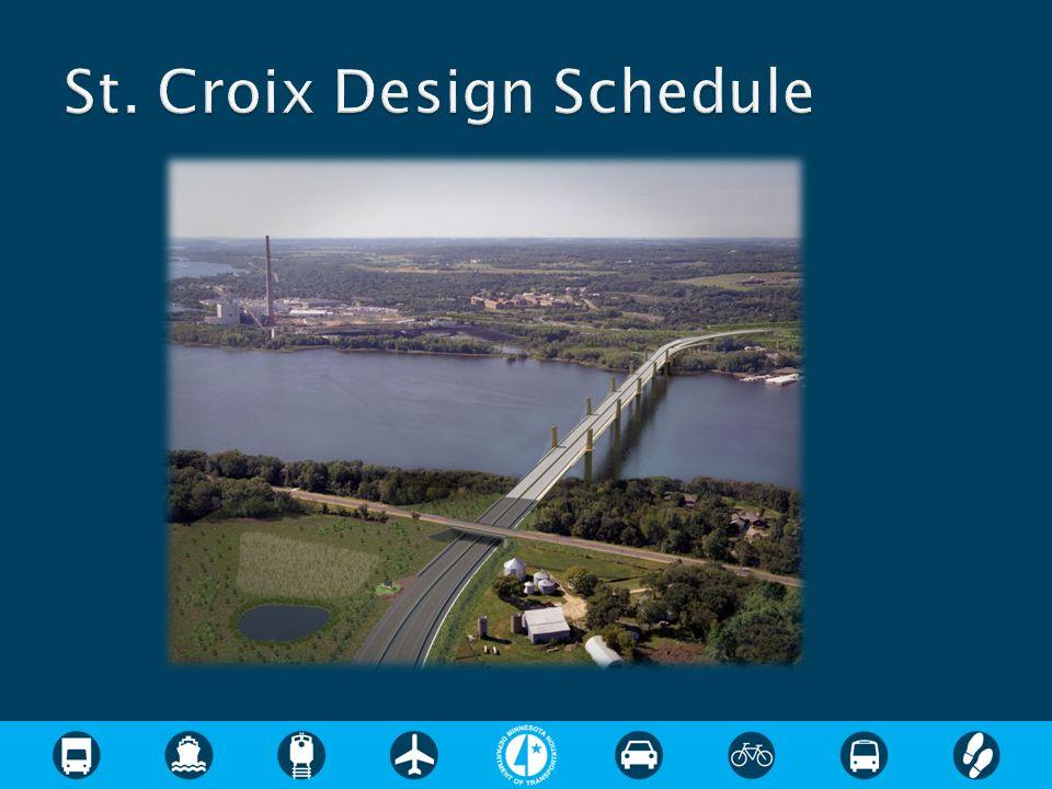 St. Croix Design Schedule