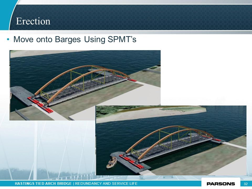 Erection Move onto Barges Using SPMT's