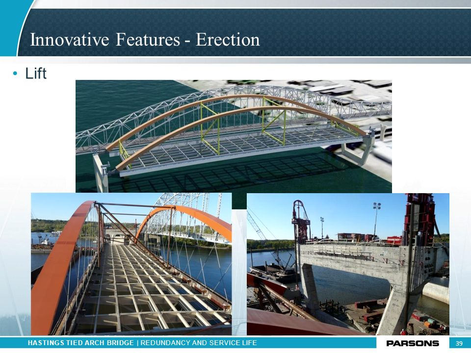 Innovative Features - Erection