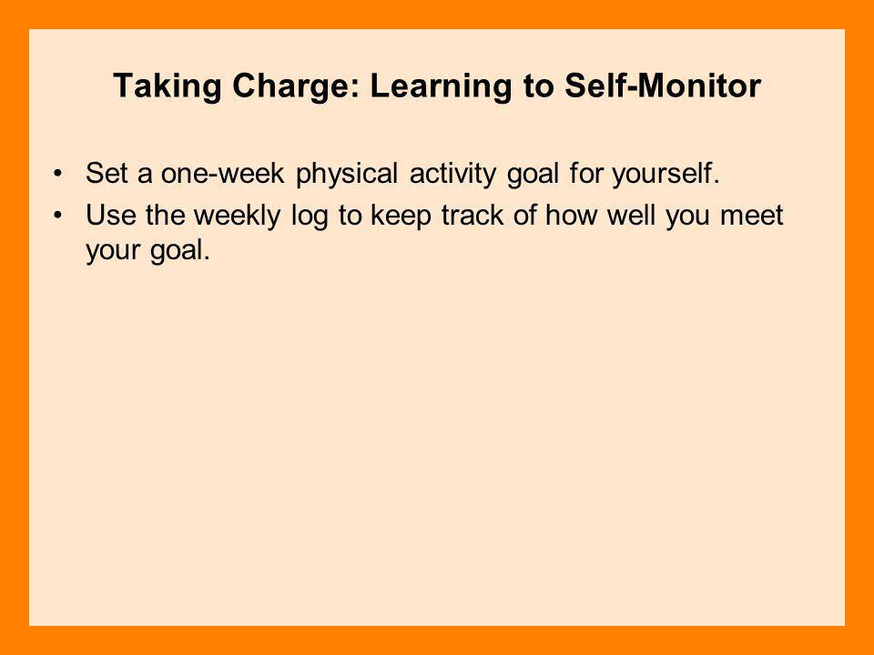 Taking Charge: Learning to Self-Monitor