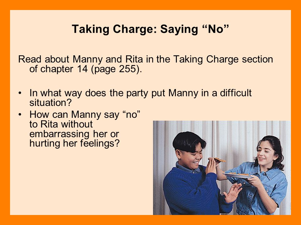 Taking Charge: Saying No
