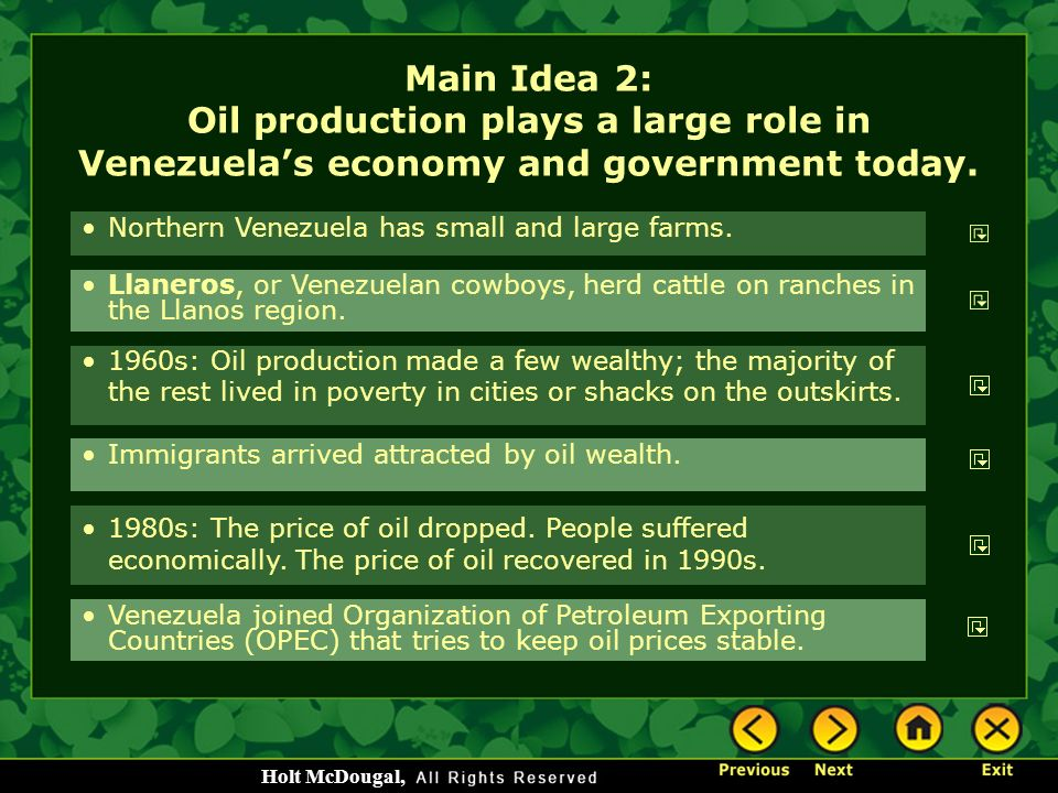 Government intervention in venezuelas economy