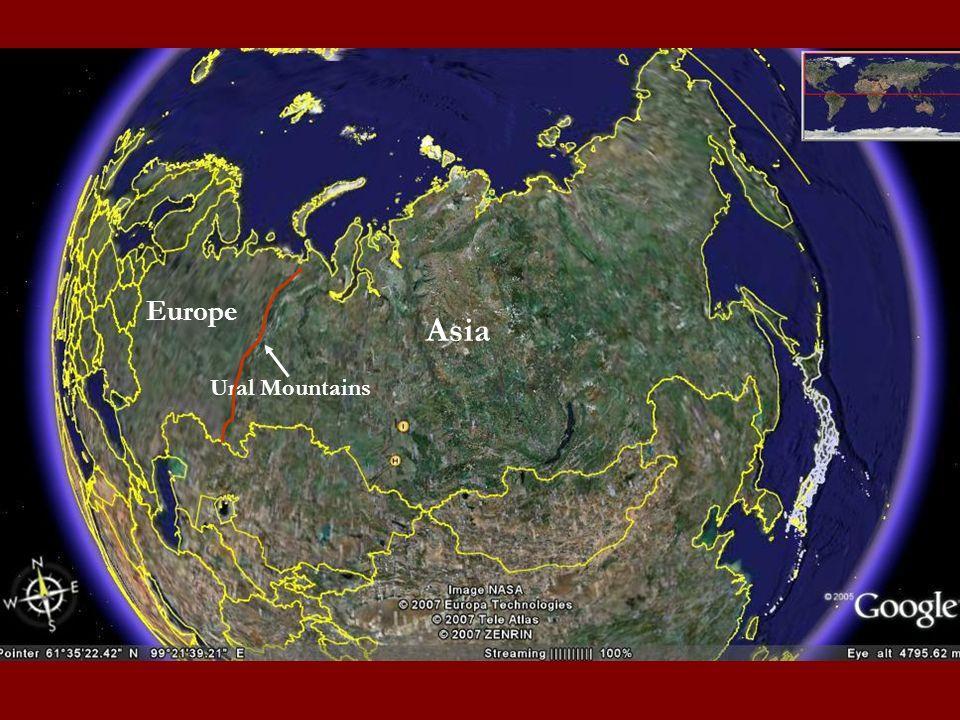 Europe Asia Ural Mountains
