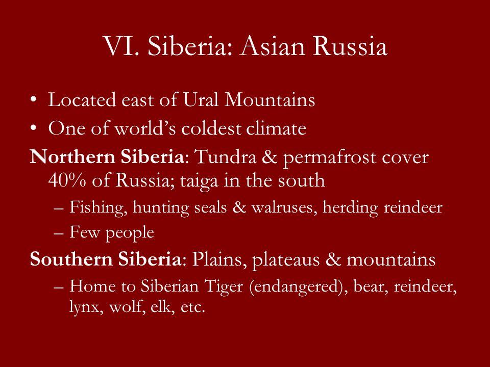 VI. Siberia: Asian Russia