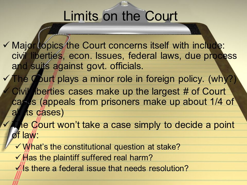 Limits on the Court