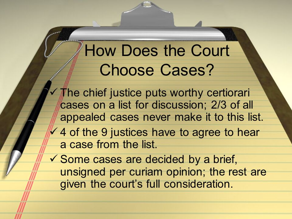 How Does the Court Choose Cases