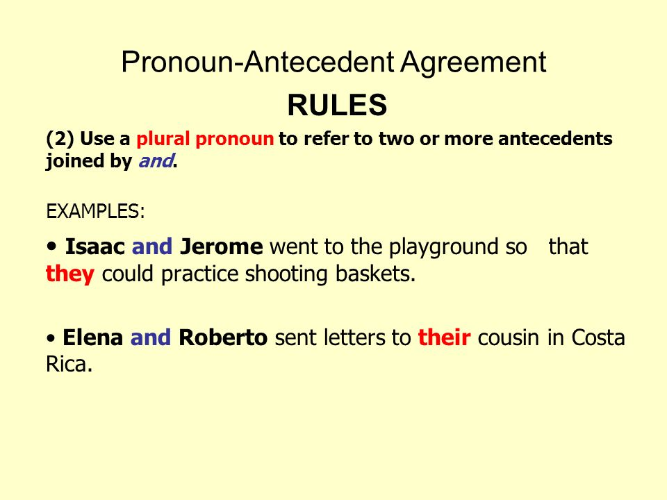 Pronoun Antecedent Agreement Ppt Video Online