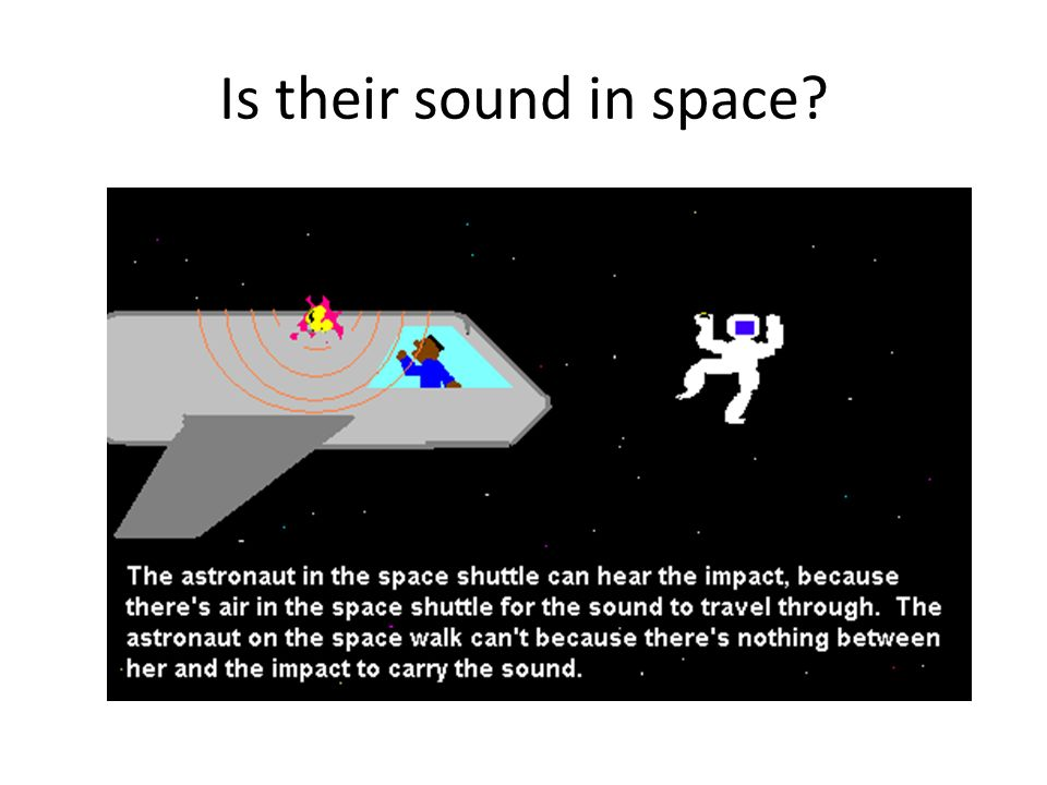 Is their sound in space