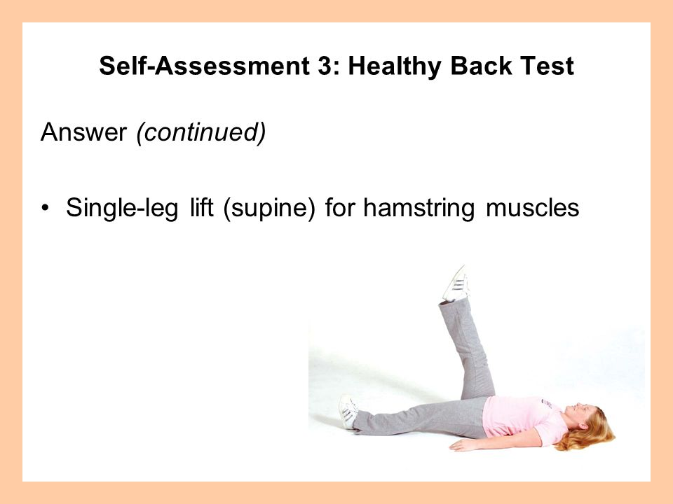 Self-Assessment 3: Healthy Back Test