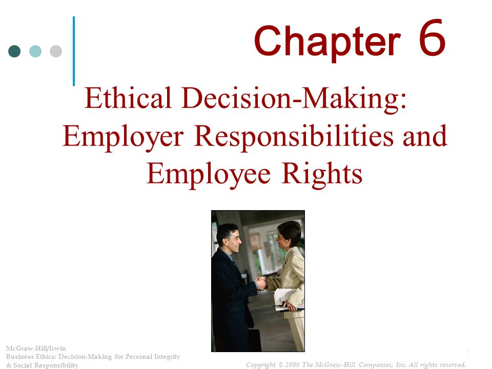 the rights and responsibilities of employers and employees essay That describes rights and responsibilities under employers and employees in all 50 states, the district of columbia, and other us jurisdictions either.