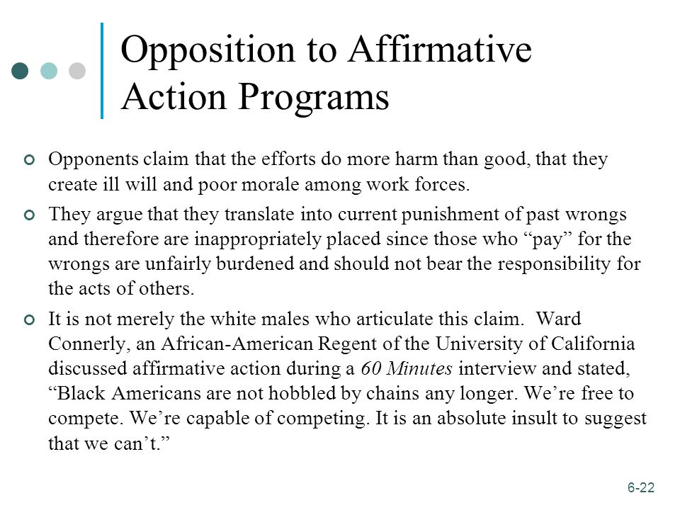 an ethical dilemma affirmative action do The diversity bargain: and other dilemmas of race, admissions, and meritocracy at elite  value affirmative action and diversity, they do so because they feel much.