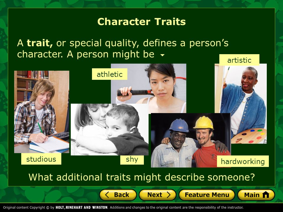 What additional traits might describe someone