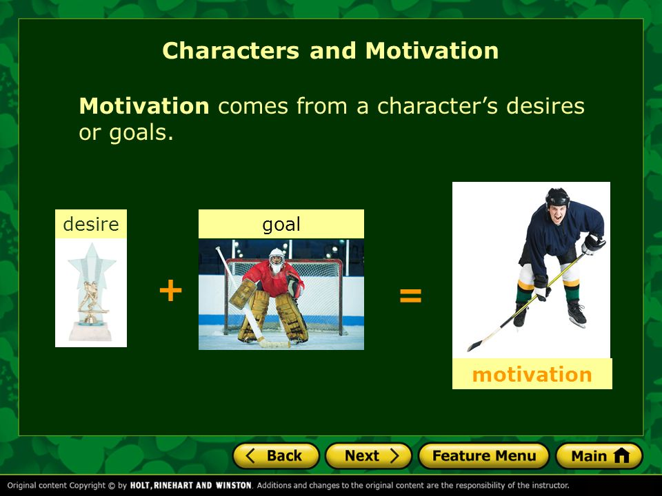 Characters and Motivation