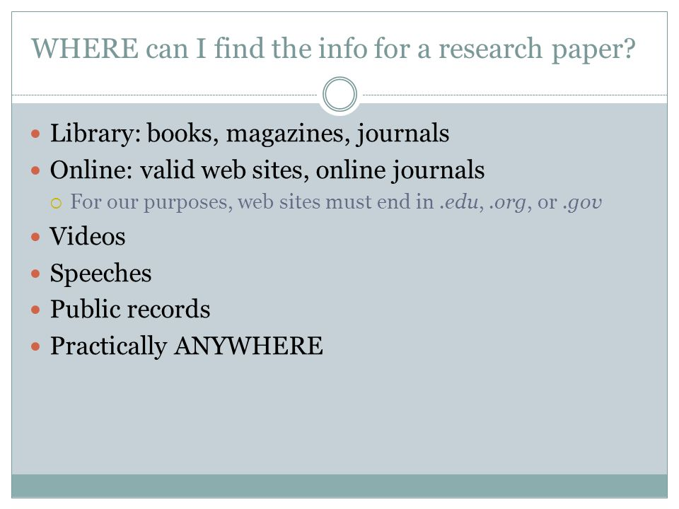 where can i find research papers online