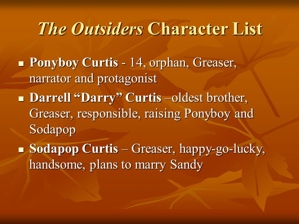 The Outsiders Character List