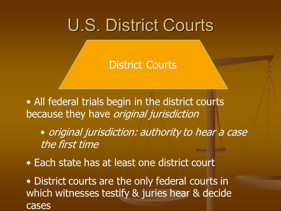 U.S. District Courts District Courts