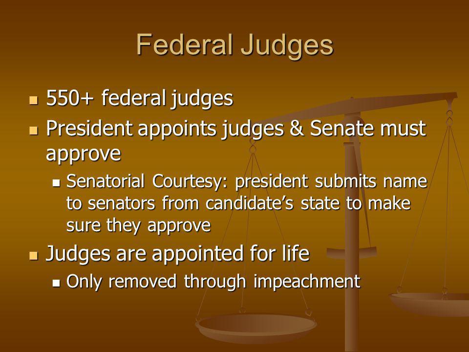 Federal Judges 550+ federal judges