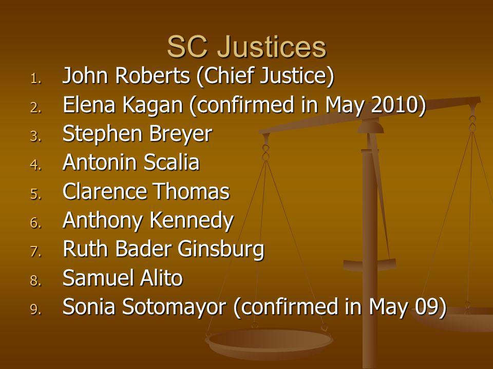 SC Justices John Roberts (Chief Justice)