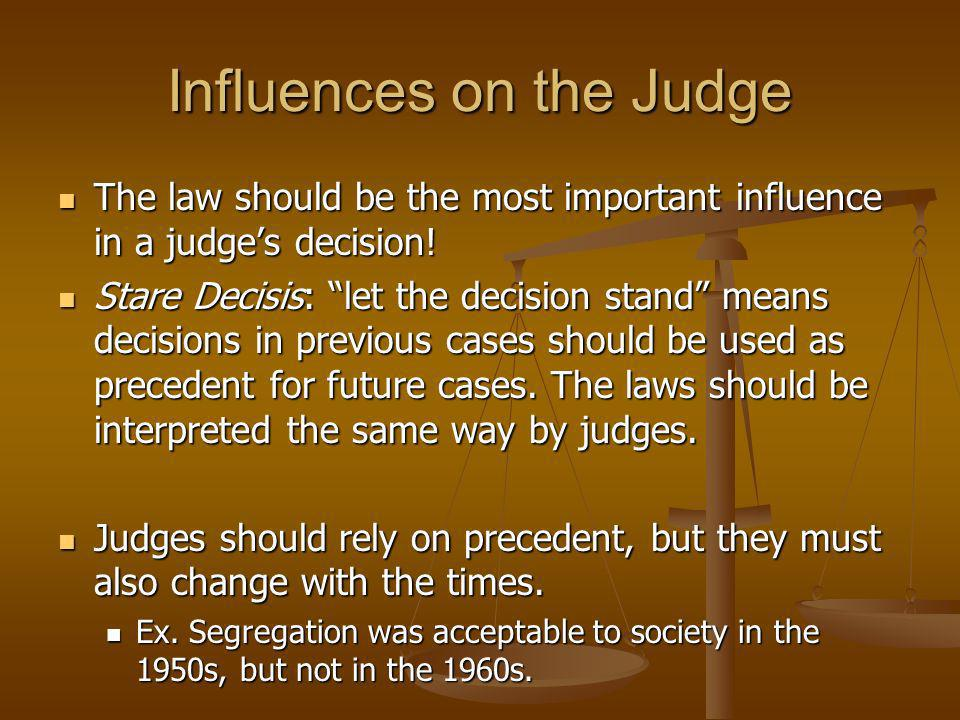 Influences on the Judge