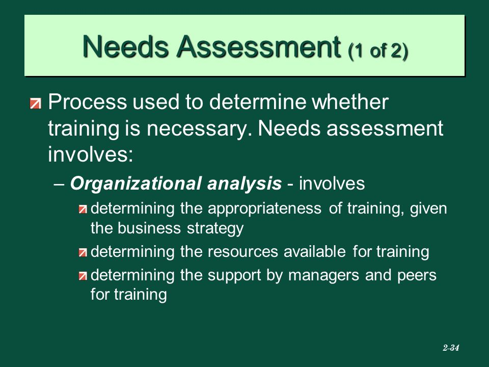 case study determining training needs Training and development describes the formal the training program should relate not only to the specific needs identified through the company and individual assessments, but also to the overall goals of the company case study the case method is a.