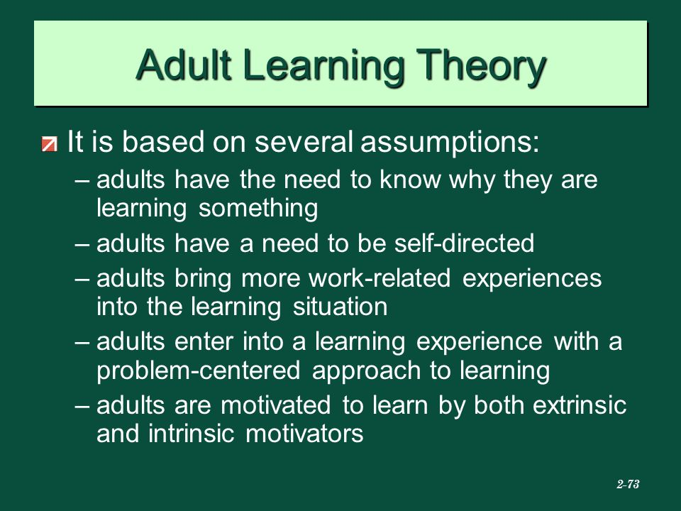 Opinion adult learning theory course
