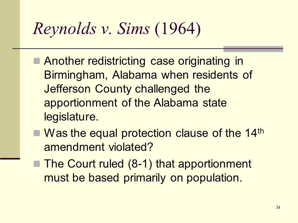 Reynolds v. Sims (1964)