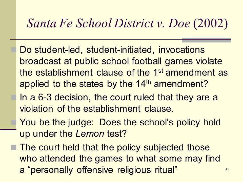 Santa Fe School District v. Doe (2002)