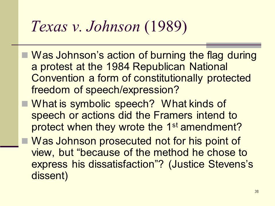 Texas v. Johnson (1989)