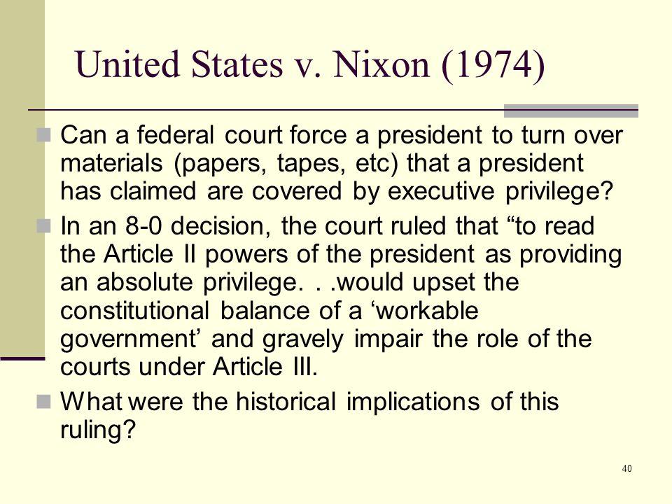 United States v. Nixon (1974)