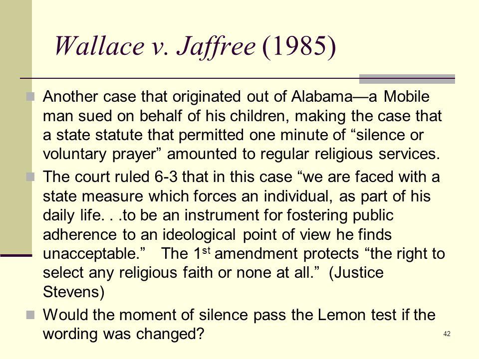 Wallace v. Jaffree (1985)