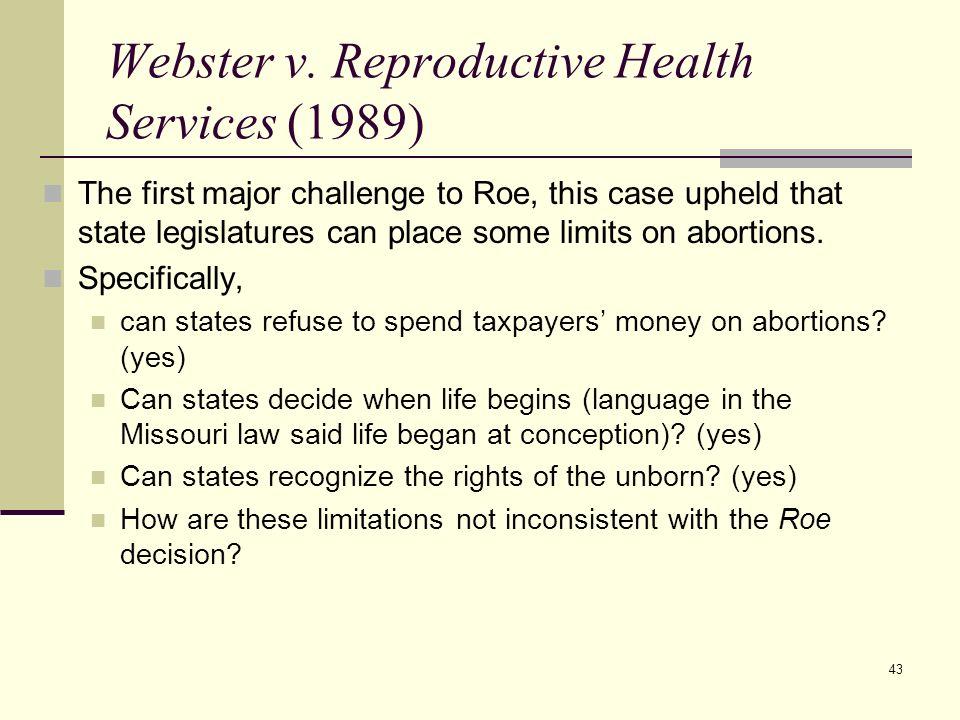 Webster v. Reproductive Health Services (1989)
