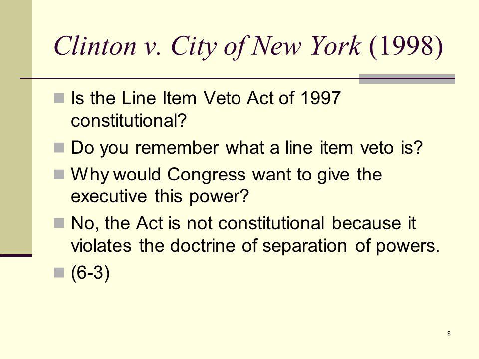 Clinton v. City of New York (1998)