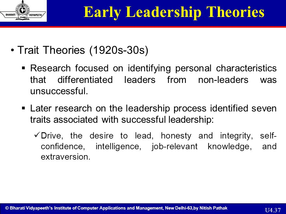 leadership theories and principles Why do certain people become great leaders leadership theories seek to answer this question and usually fit into one of eight basic types.