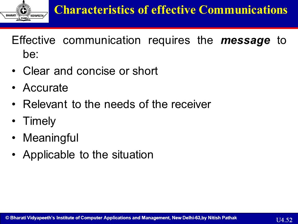 characteristics of an effective communicator This article looks at the characteristics of an effective classroom setting does your classroom have these characteristics.