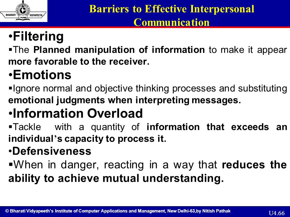 filtering barriers to communication What are the barriers to communication and how effective communication can be made   filtering: filtering is selective listening in reverse in fact, .
