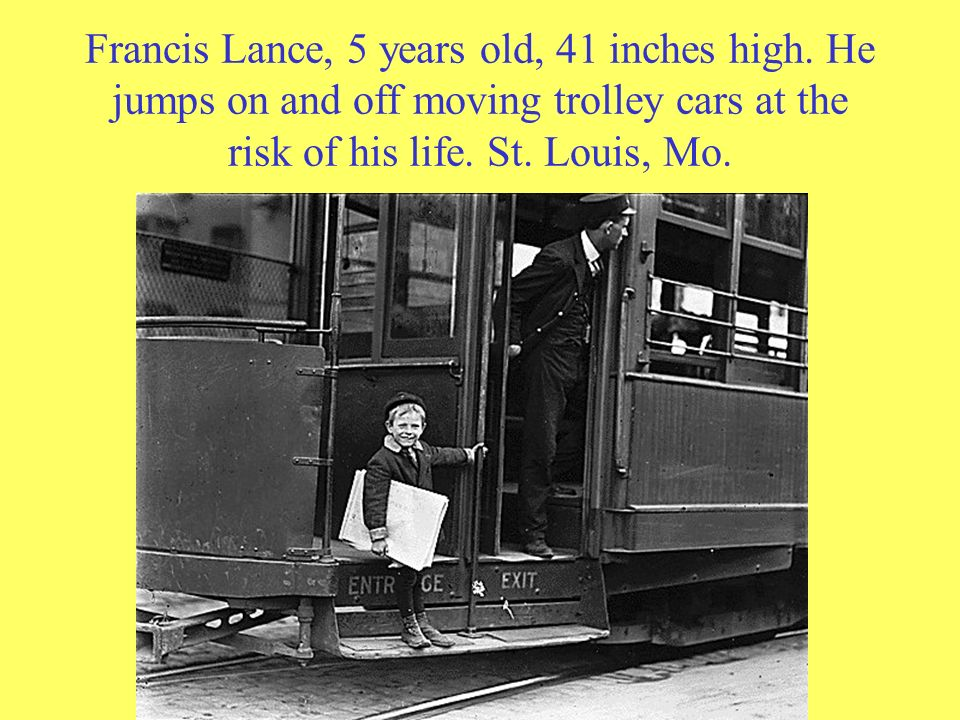 Francis Lance, 5 years old, 41 inches high