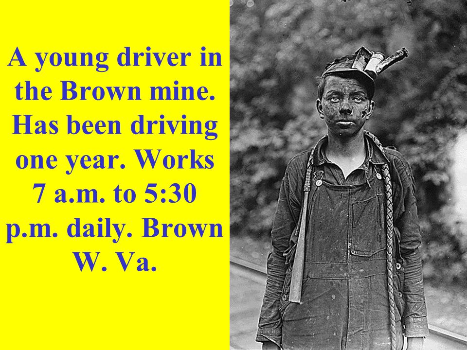 A young driver in the Brown mine. Has been driving one year. Works 7 a