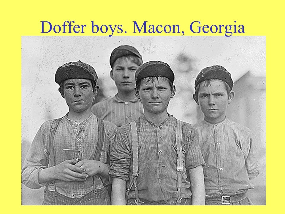 Doffer boys. Macon, Georgia