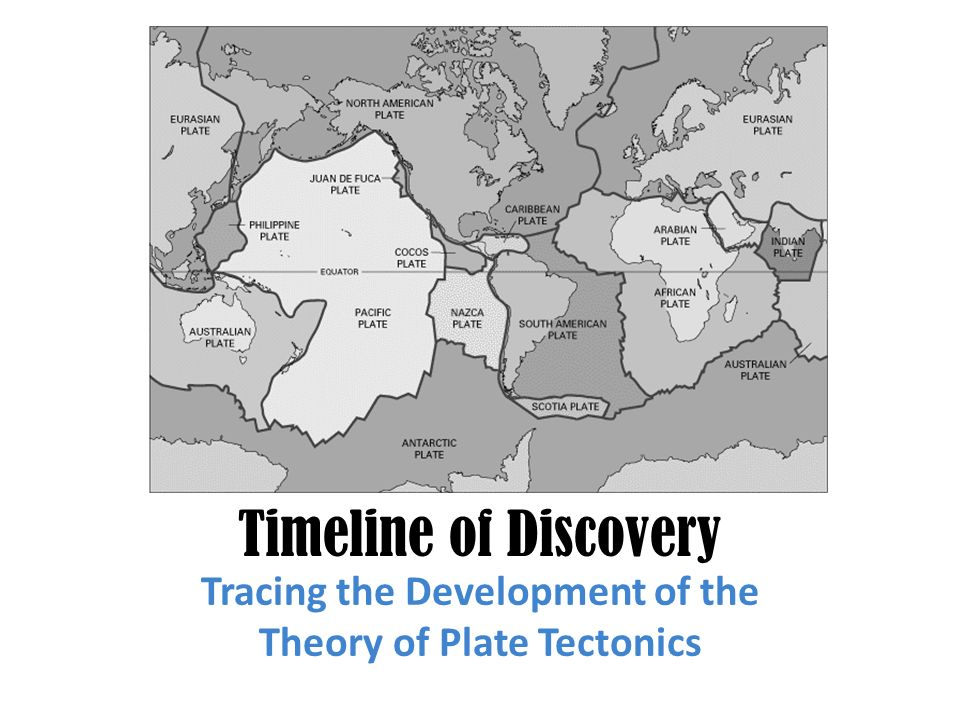 Tracing the Development of the Theory of Plate Tectonics