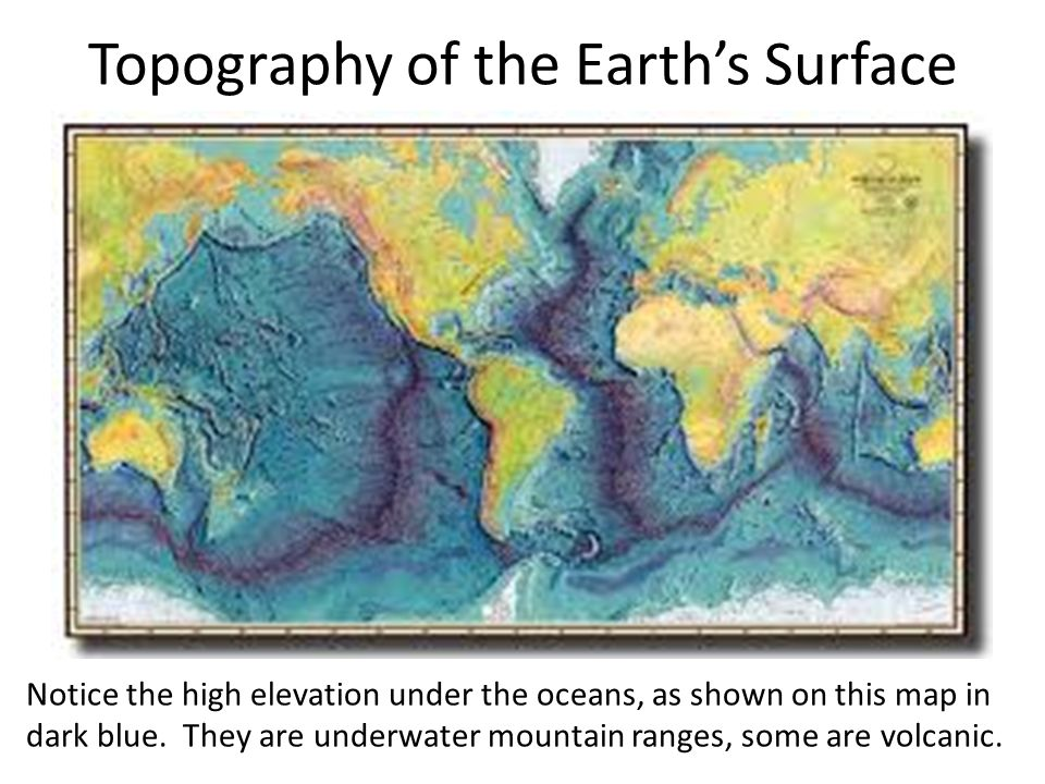 Topography of the Earth's Surface