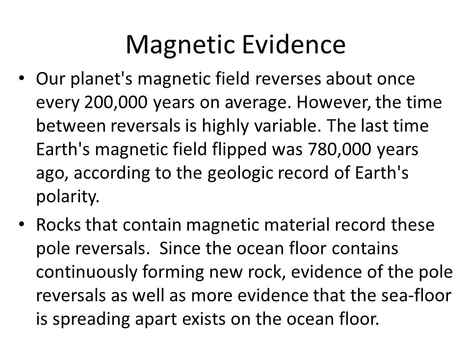 Magnetic Evidence