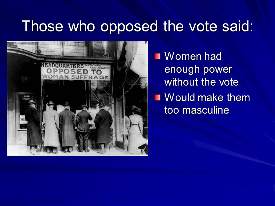 Those who opposed the vote said: