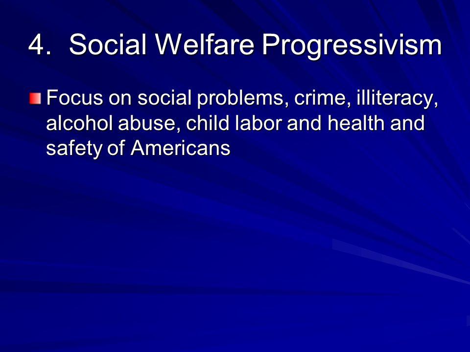 4. Social Welfare Progressivism
