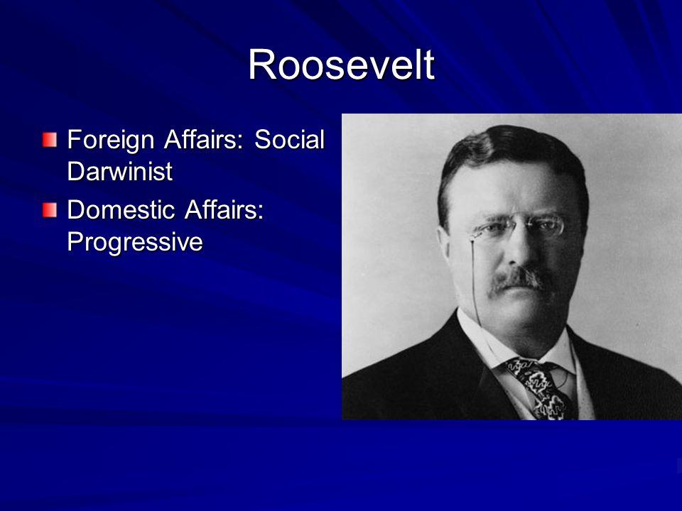 Roosevelt Foreign Affairs: Social Darwinist