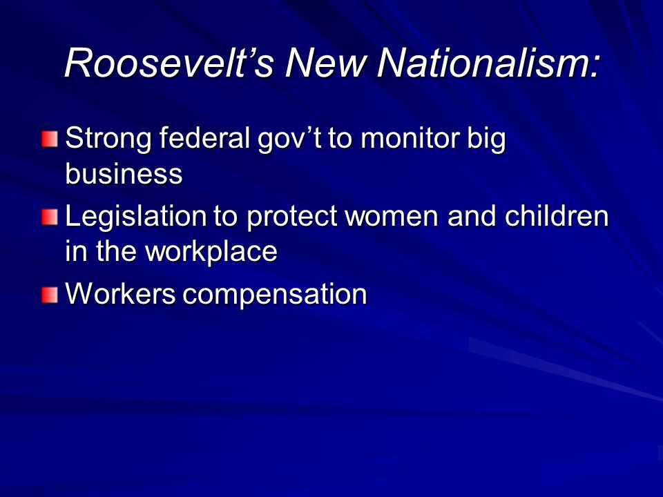 Roosevelt's New Nationalism: