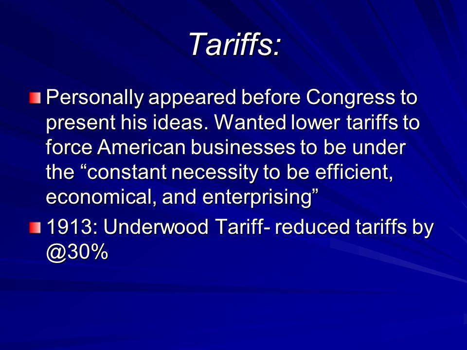 Tariffs: