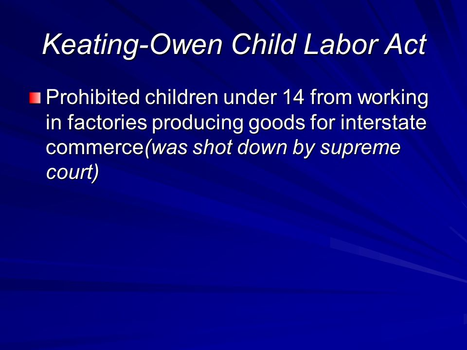 Keating-Owen Child Labor Act