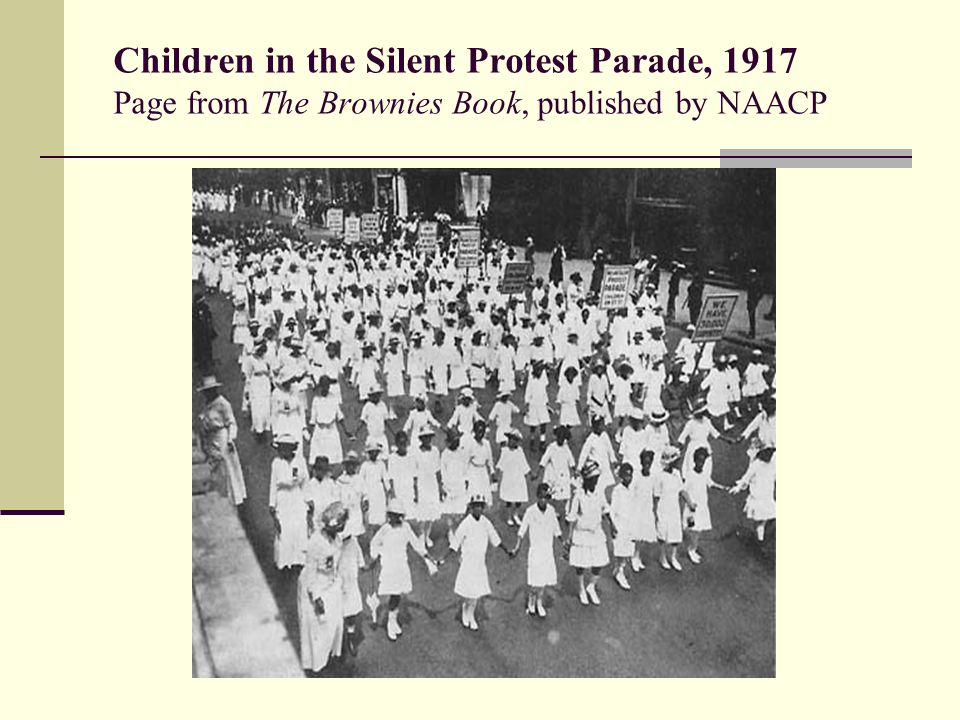 Children in the Silent Protest Parade, 1917 Page from The Brownies Book, published by NAACP